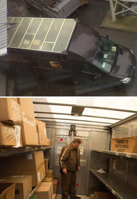 Un toit de camion de livraison transparent pour qu'il ne soit pas obligé d'être éclairé la journée