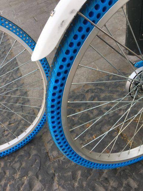 Des vélos dotés de pneus sans air